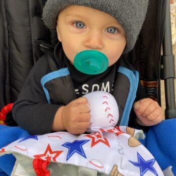 Ball field baby